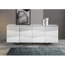 Modrest Ely - Modern White High Gloss Buffet