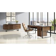 View Product - Corridor 6521 Desk in Natural Walnut