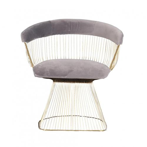 VIG Furniture - Modrest Lauren - Grey Velvet and Brushed Gold Dining Chair