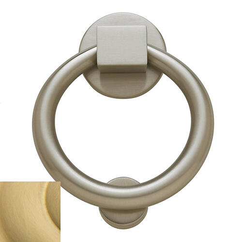 Baldwin - Lifetime Satin Brass Ring Knocker
