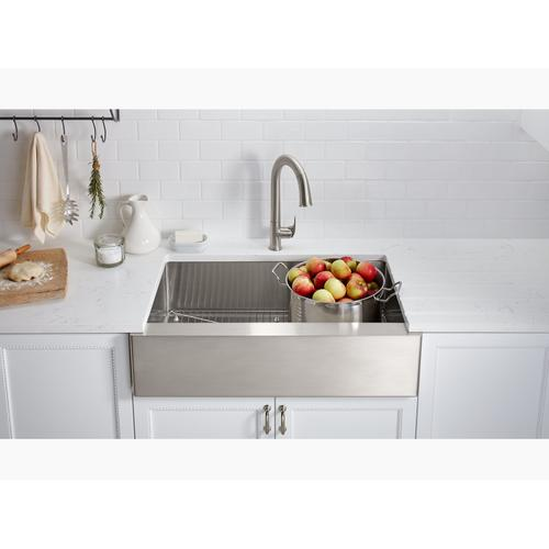 """Vibrant Ombr Rose Gold/polished Nickel Touchless Kitchen Faucet With 15-1/2"""" Pull-down Spout, Docknetik Magnetic Docking System and A 2-function Sprayhead Featuring the New Sweep Spray"""