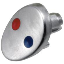 Arctic Stainless Button - Red / Blue - Finished