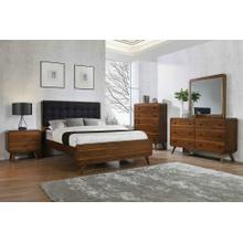 Robyn Mid-century Modern Dark Walnut Eastern King Four-piece Set