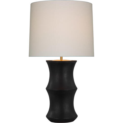 AERIN Marella 33 inch 15.00 watt Stained Black Metallic Table Lamp Portable Light, Medium