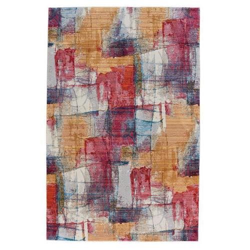 Fuego-Canvas Red Multi Machine Woven Rugs