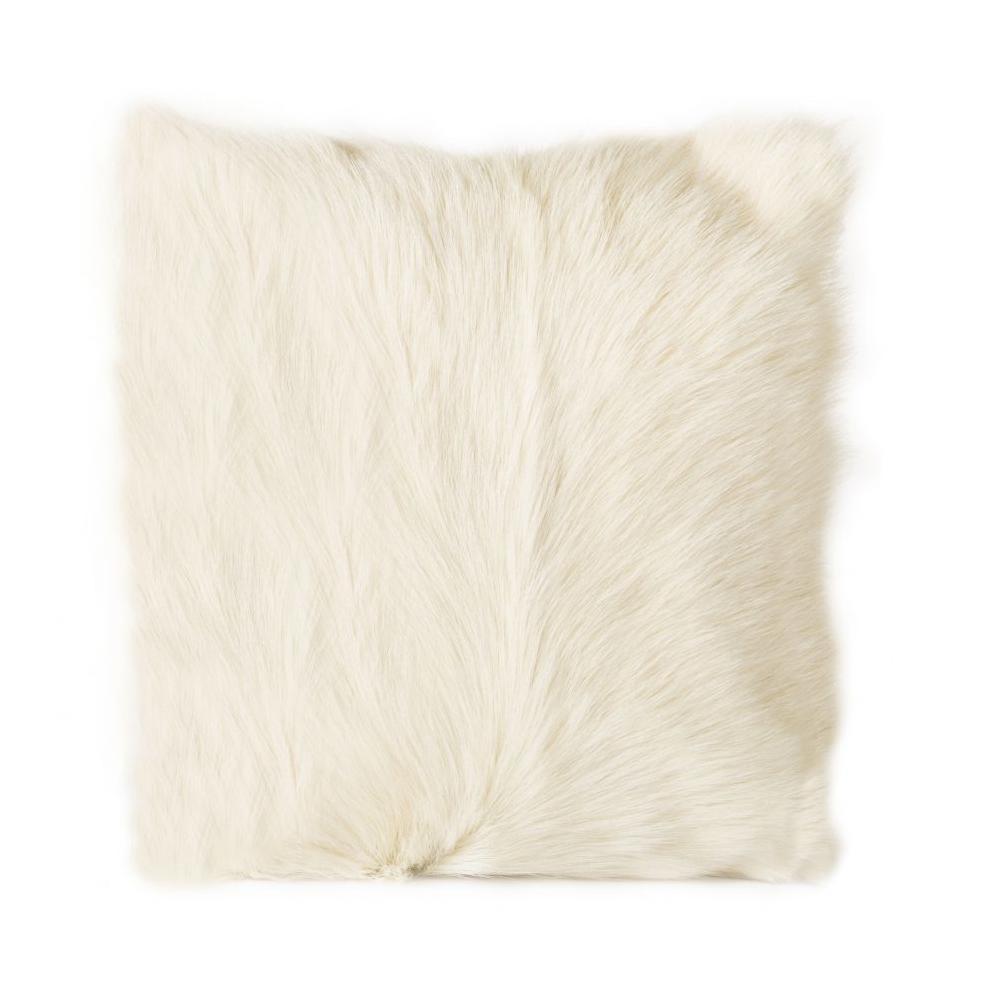 See Details - Goat Fur Pillow Natural