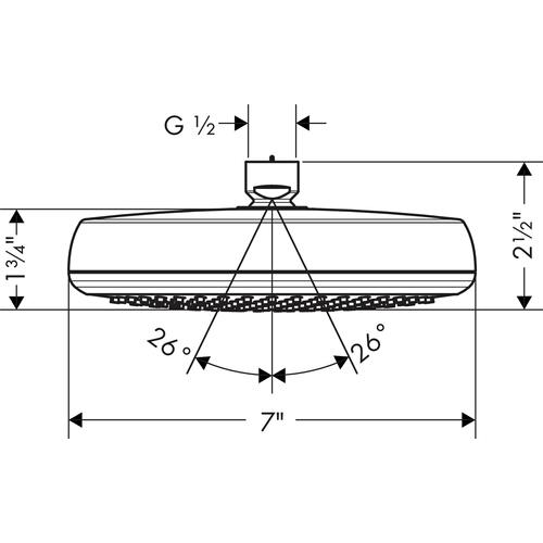 Chrome Showerhead 160 1-Jet, 2.0 GPM