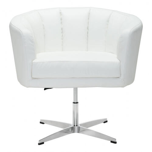 Wilshire Occasional Chair White Pu