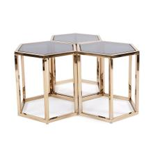 View Product - Hexagonal Gold Stainless Steel Table Set
