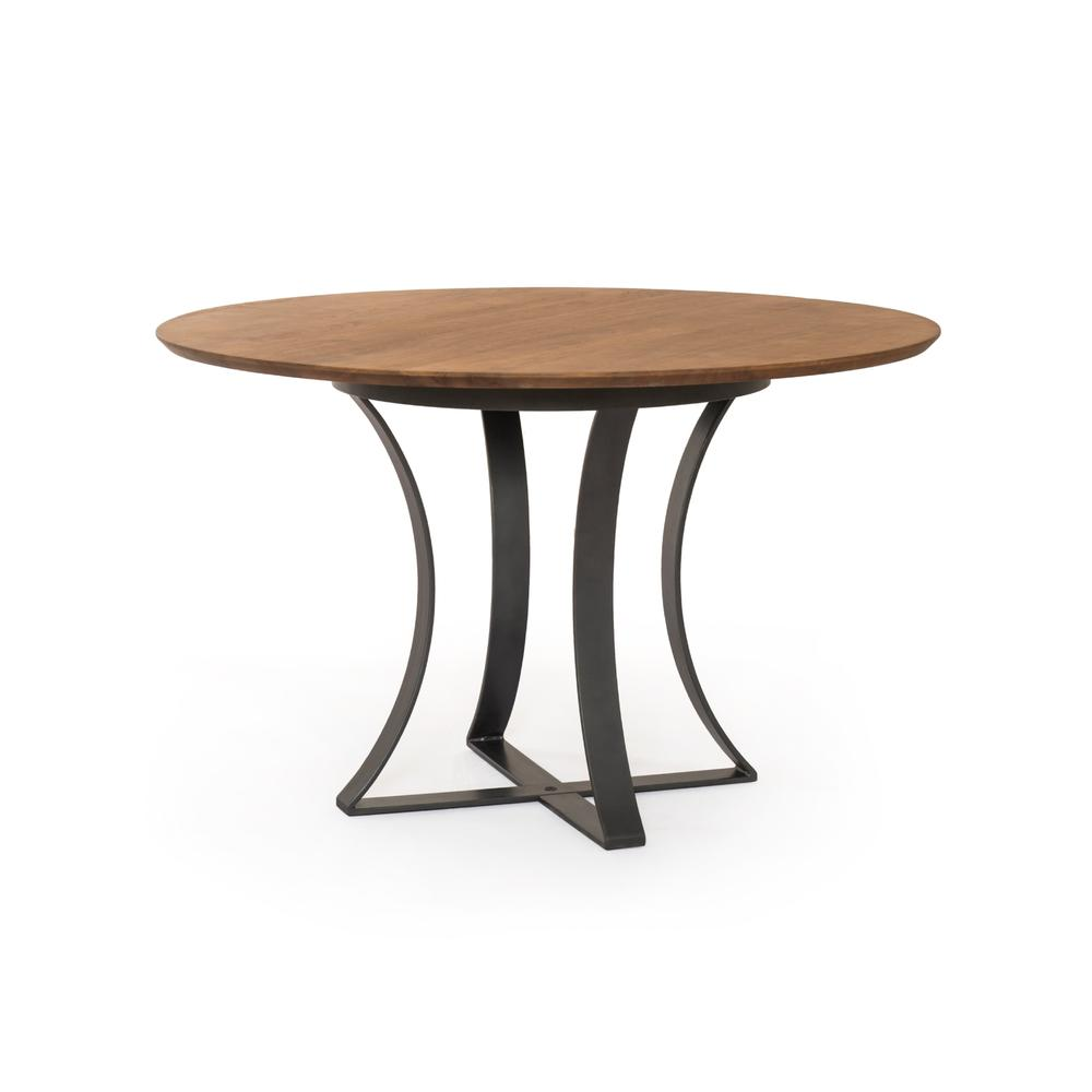 """See Details - Light Acacia Finish 48"""" Size Gage Dining Table"""