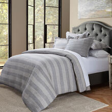 6pc King Duvet Set Gray