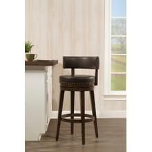 Lawton Swivel Bar Height Stool, Walnut