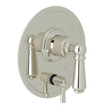 Edwardian Pressure Balance Trim with Diverter - Polished Nickel with Metal Lever Handle