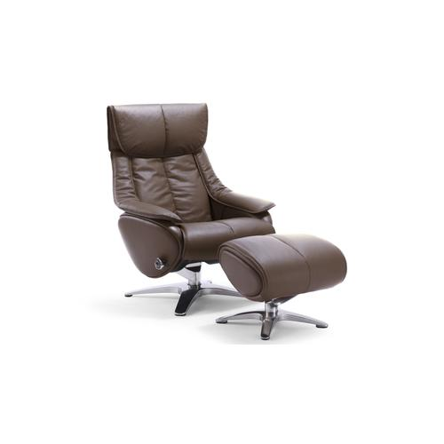 Brown Chair with Ottoman