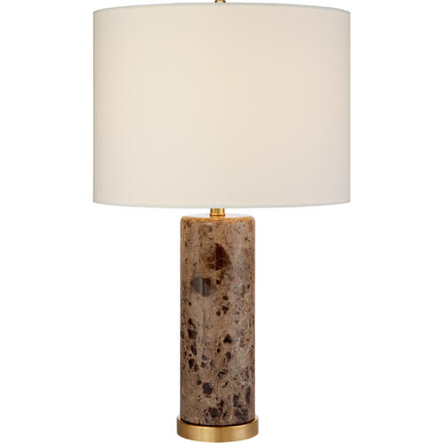AERIN Cliff 30 inch 150 watt Brown Marble Table Lamp Portable Light
