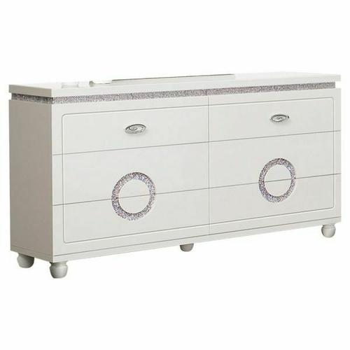 ACME Vivaldi Dresser - 20245 - White High Gloss