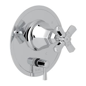 Polished Chrome Palladian Pressure Balance Trim With Diverter with Cross Handle Product Image