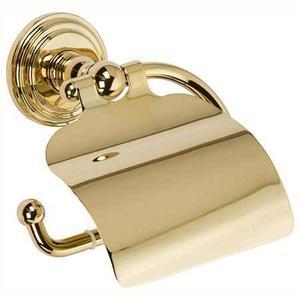 Polished Brass Hooded Toilet Tissue Holder
