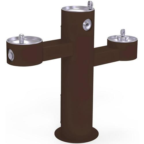 Elkay - Elkay Outdoor Fountain Tri-Level Pedestal Non-Filtered, Non-Refrigerated Brown