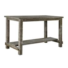 Grey Rustic Farmhouse Pub Height Table