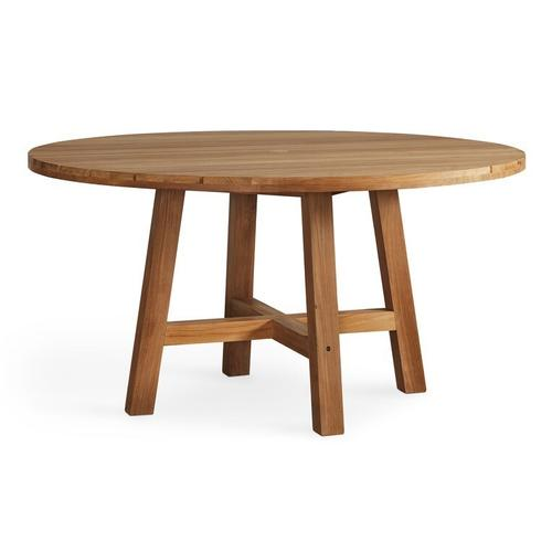 See Details - Martin Teak Tables Round Dining Table