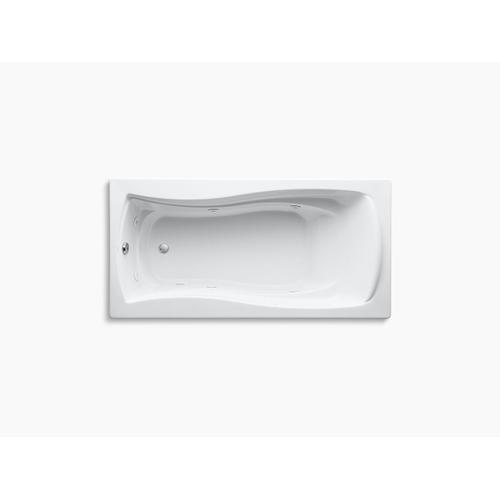"White 72"" X 36"" Drop-in Whirlpool With Reversible Drain"