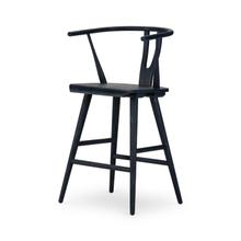 Counter Stool Size Evening Blue Finish Cecelia Bar + Counter Stool
