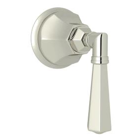 Palladian Trim for Volume Controls and Diverters - Polished Nickel with Metal Lever Handle