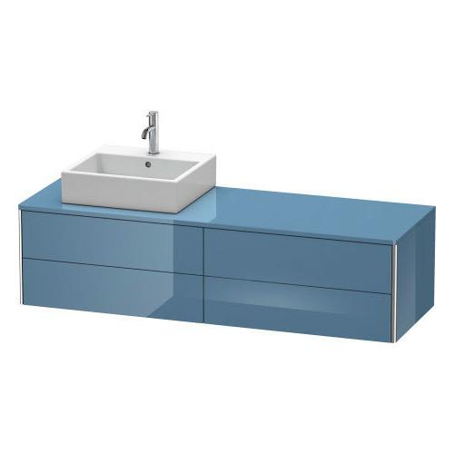 Product Image - Vanity Unit For Console Wall-mounted, Stone Blue High Gloss (lacquer)