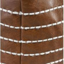 Ezekiel Vegan Leather Pouf 24x24x12