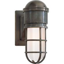 E. F. Chapman Marine 1 Light 5 inch Bronze Bath Wall Light