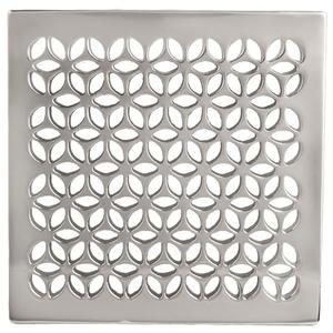 "Satin Brass - PVD 6"" Square Shower Drain"