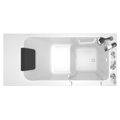 Luxury Series 28x48-inch Right Drain Walk-in Tub with Tub Facuet  American Standard - White