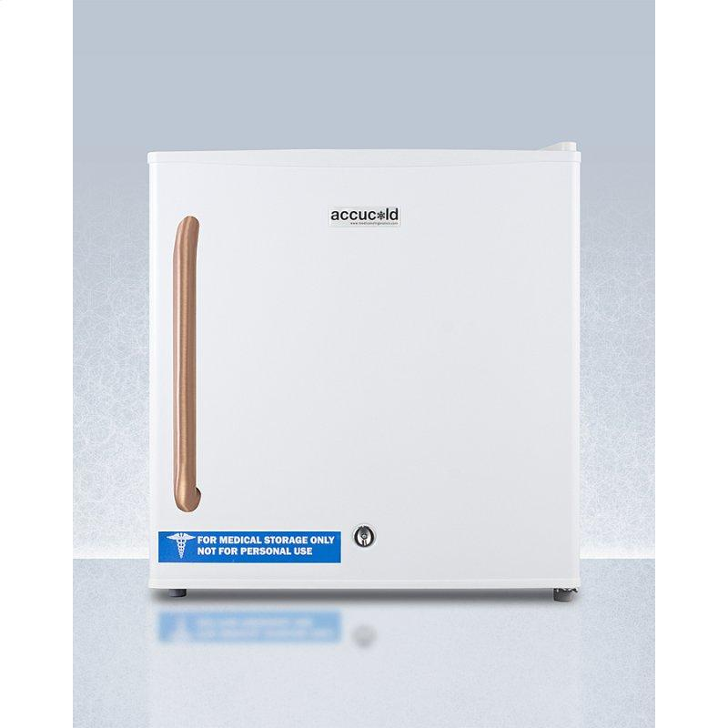 Compact All-freezer for General Purpose Use, With Pure Copper Handle and Manual Defrost With Lock