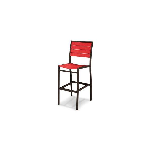 Polywood Furnishings - Eurou2122 Bar Side Chair in Textured Bronze / Sunset Red
