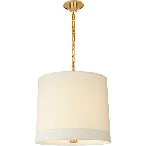 Visual Comfort - Barbara Barry Simple Banded 2 Light 24 inch Soft Brass Pendant Ceiling Light