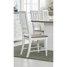 View Product - Dining Chair (2/Carton) - Light Oak/Distressed White Finish