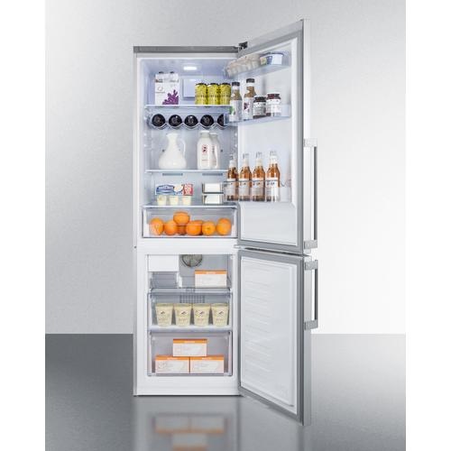 "24"" Wide Bottom Freezer Refrigerator With Icemaker"