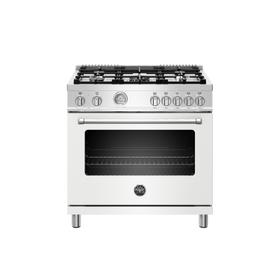 36 inch Dual Fuel Range, 5 Burner, Electric Oven Bianco Matt