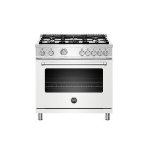 Bertazzoni36 inch Dual Fuel Range, 5 Burner, Electric Oven Bianco Matt