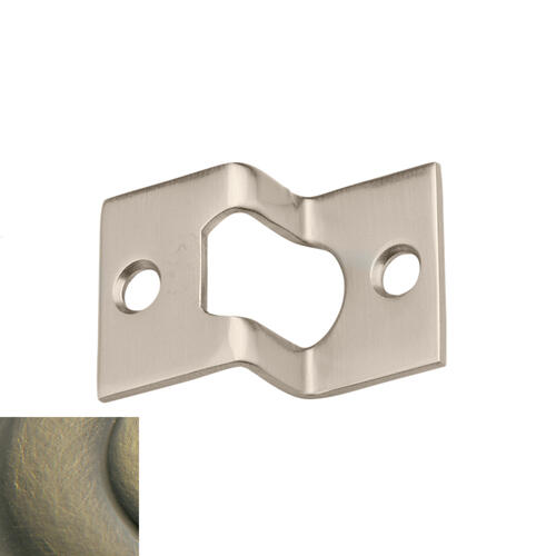 Baldwin - Satin Brass and Black Rabbeted Guide
