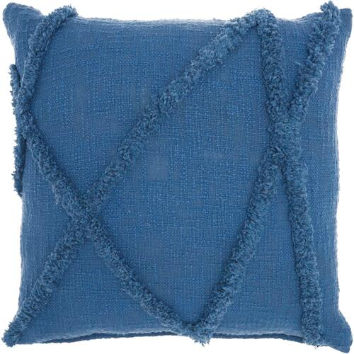 "Life Styles Sh018 Blue 18"" X 18"" Throw Pillow"