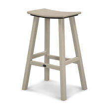 "Sand Traditional 30"" Saddle Bar Stool"