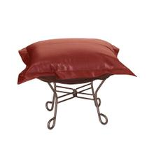 Scroll Puff Ottoman Avanti Apple Titanium Frame