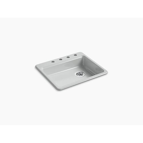 "Ice Grey 25"" X 22"" X 5-7/8"" Top-mount Single-bowl Kitchen Sink"
