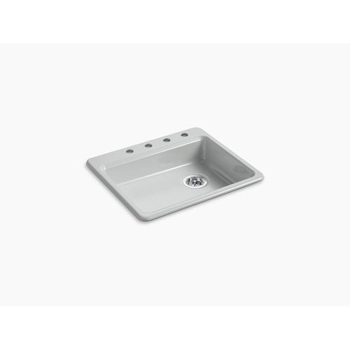 "Ice Grey 25"" X 22"" X 5-7/8"" Top-mount Single-bowl Kitchen Sink"