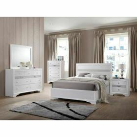 ACME Naima Full Bed (No Storage) - 25765F - White