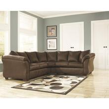 Signature Design by Ashley Darcy Sectional in Cafe Microfiber