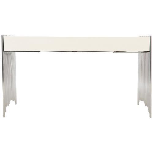 Calista Metal Desk in Silken Pearl (388)