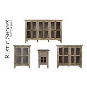 Rustic Shores 4 Door Low Cabinet